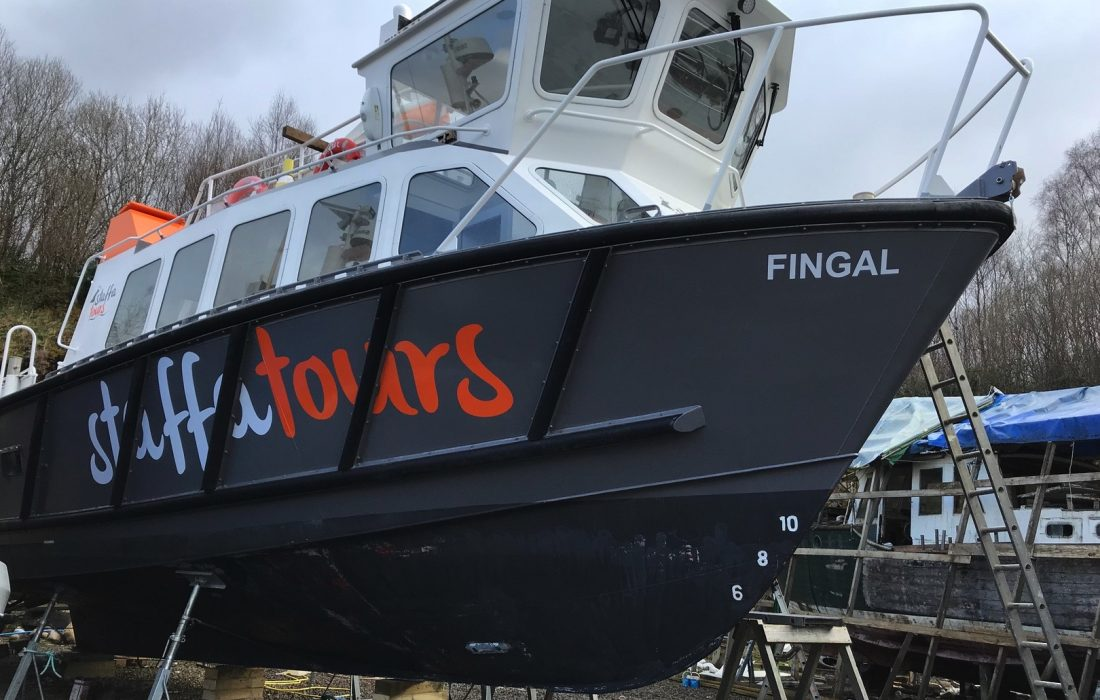 Staffa Tours boat graphics
