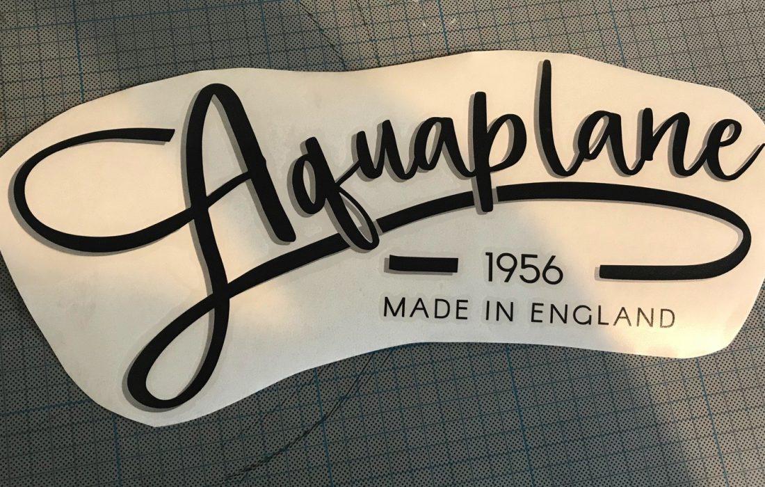 Aquaplane custom graphic